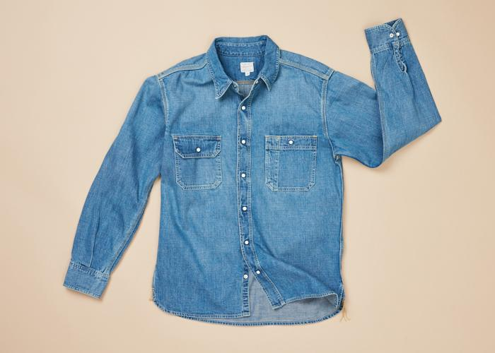 Denim Work Shirt L/S Washed Men