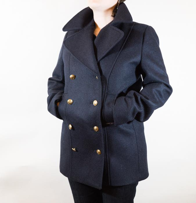 Voilure Wool Pea Coat Women