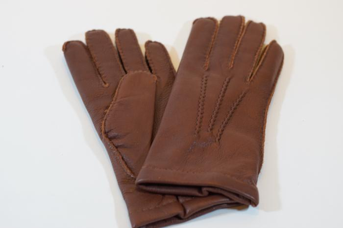 Elk Cashmere Gloves Chestnut