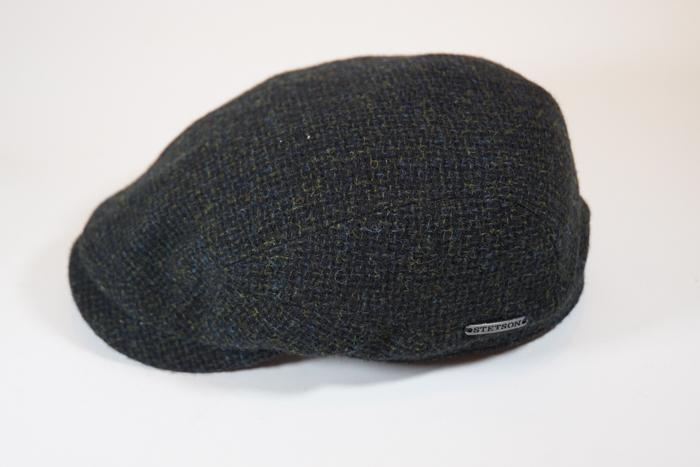 Belfast Tweed Flat Cap Wool Dark