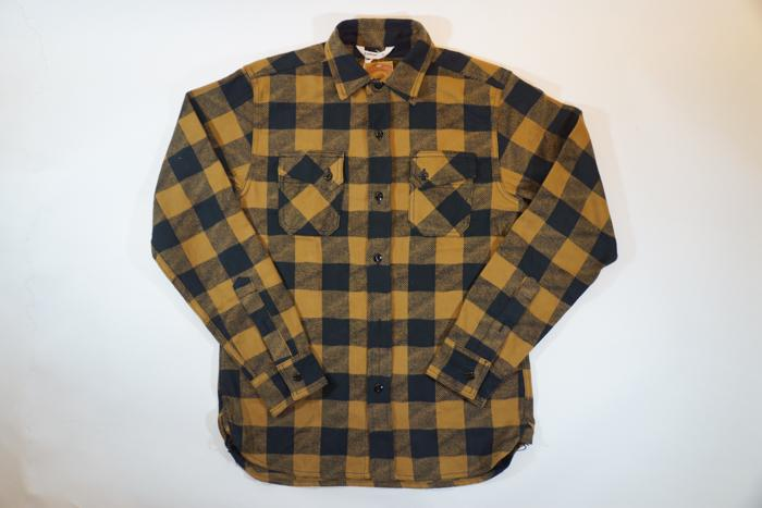 Crosscut Flannel L/S Check Shirt Mustard/Black Men