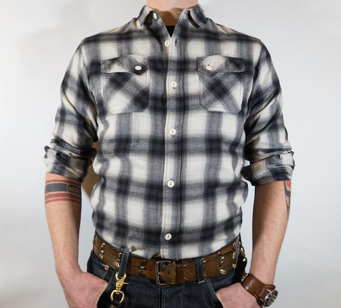 Crosscut Flannel L/S Shirt Brushed Check Men