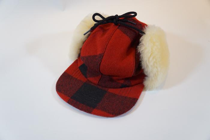 Double Mackinaw Cap Check Red/Black
