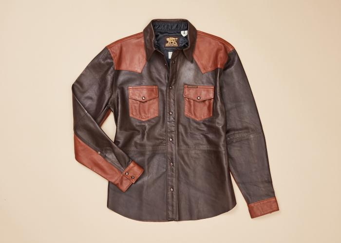 Hawley Two-Tone Leather Shirt Men
