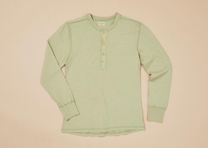 Coalminer L/S Henley Rec. Cotton Men