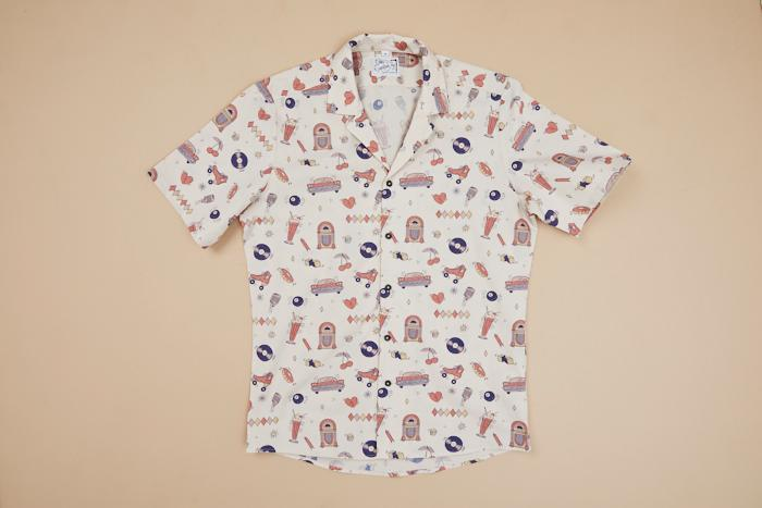 The 50`s Retro S/S Shirt Men