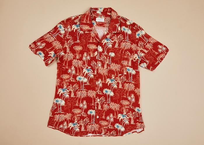 Hawaii S/S Shirt Blue Palm Trees Men