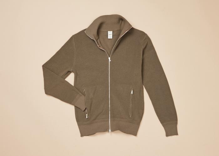 Cotton Knit Zip Jacket Light Men